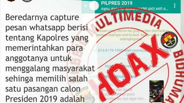 Kapolres Kota Bima Tegaskan Percakapan WAG Polisi Dukung Jokowi adalah Hoax