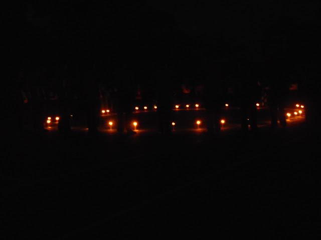 Suasana saat renungan malam