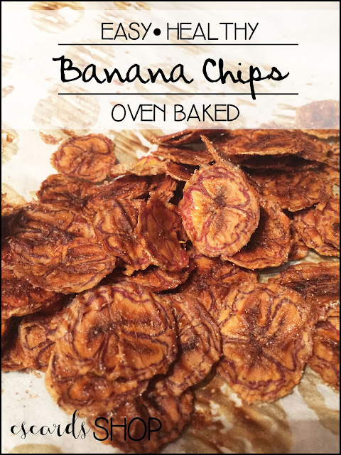 Easy Healthy Oven Baked Banana Chips
