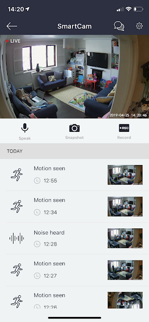 Neos SmartCam camera view on app screenshot