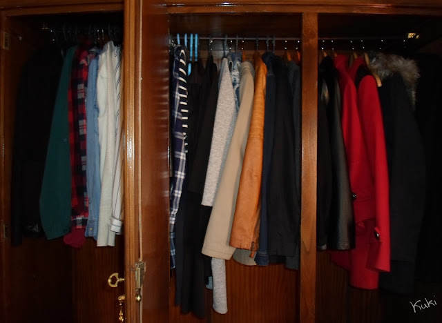 Organização final do guarda-roupa