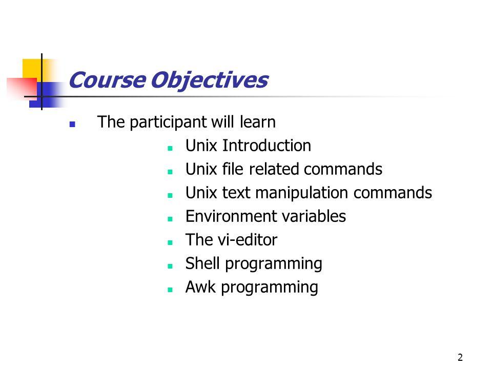 Unix certification training