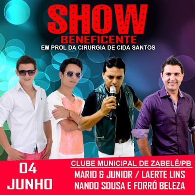 Show Beneficente acontece em Zabelê com a participação de Forró Beleza