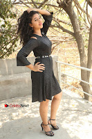 Telugu Actress Pavani Latest Pos in Black Short Dress at Smile Pictures Production No 1 Movie Opening  0006.JPG