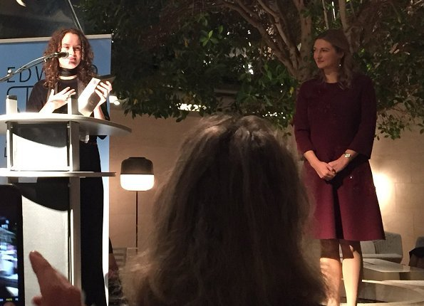 Hereditary Grand Duchess Stéphanie at Edward Steichen Award Ceremony. Esther Hovers and Daniel Wagener
