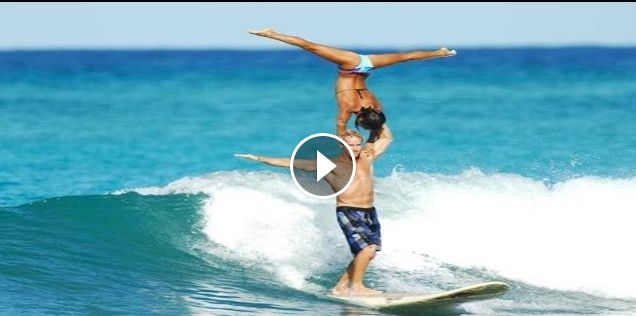 World Champion Tandem Surfers in Hawaii