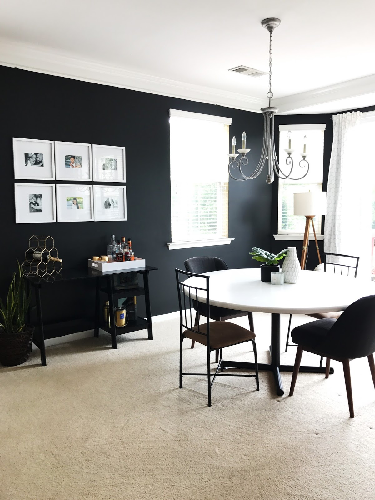 behind the big green door: coping with carpet: dining room refresh