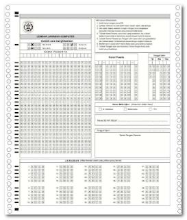 Lembar Jawaban Komputer (LJK) Untuk SD/SMP/SMA