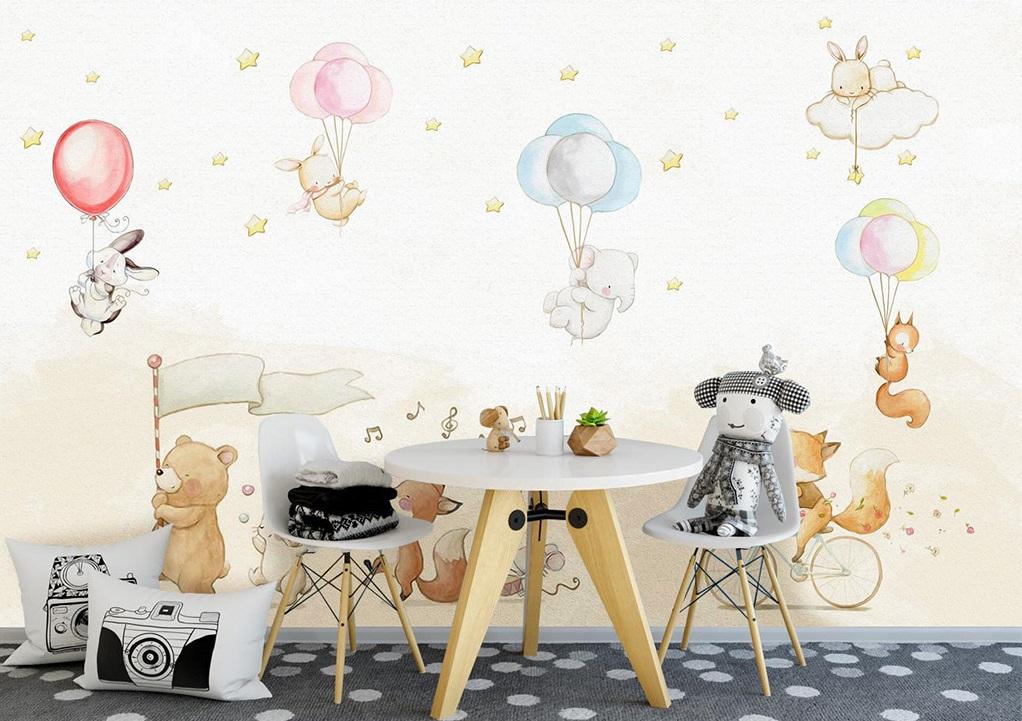 Tranh dán tường 3d trang trí phòng cho bé yêu