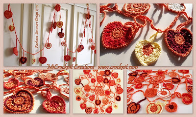 free crochet patterns, hearts, how to crochet, garland, bunting,