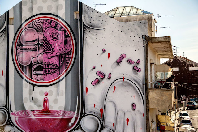 Second Street Art Mural By How Nosm For Underdogs 10 On The Streets Of Lisbon, Portugal 6