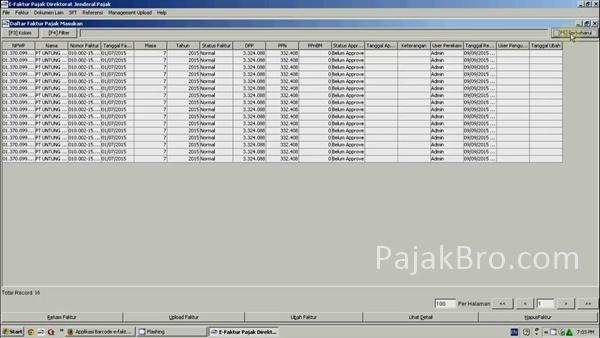 Scan e-Faktur Pajak Masukan dan Export CSV ke Aplikasi e-Faktur Pajak