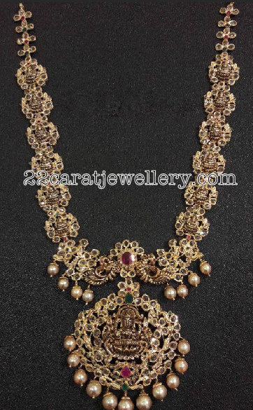 Uncut Diamond Lakshmi Long Chain
