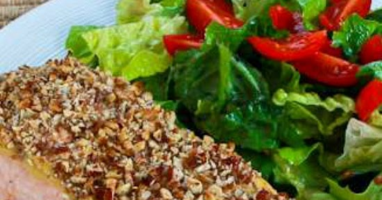 Kalyn's Kitchen®: Quick and Easy Pecan-Crusted Dijon Salmon