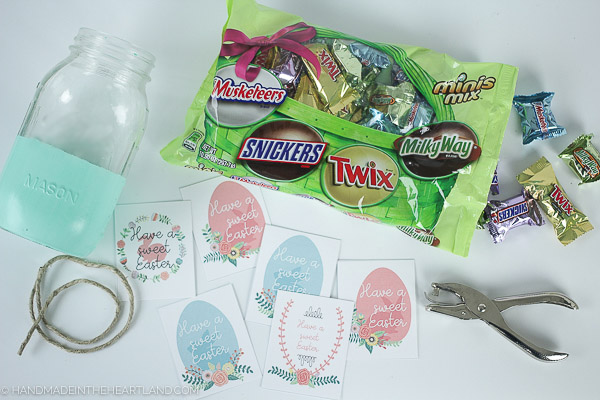 Free printable for Easter mason jar gifts