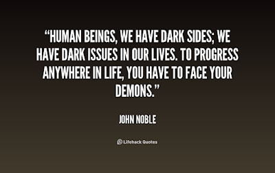 quotes that will make brighten: Human beings, we have dark sine's; we have dark issues in our lives.