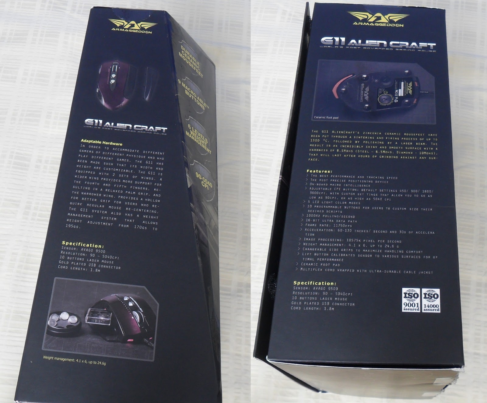 Unboxing & Review: Armaggeddon G11 Alien Craft Gaming Mouse 58