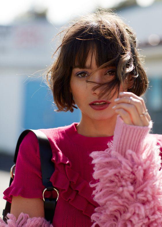 La Moda En Tu Cabello Peinados Medianos De Moda Con Flequillo 2019