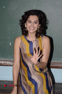 Actress Tapsee Panu Stills at Remonetise India Campaign in Chetna College Bandra West  0014.jpg