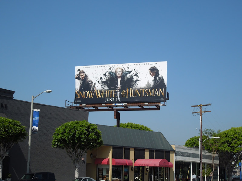 Snow White movie billboard