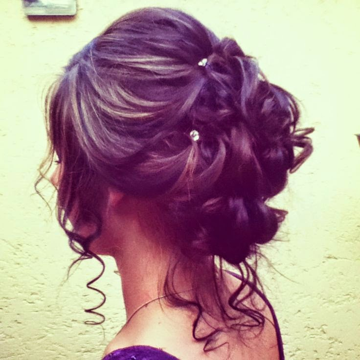 See more Prom hairstyle! love the diamonds!! Perfect for curly hair!