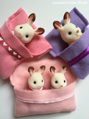 How to make Sylvanian Families sleeping bags from felt