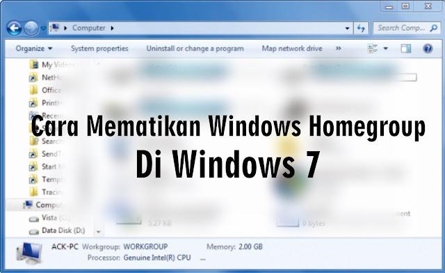 Cara Menghapus Komputer Lama dari Windows Homegroup