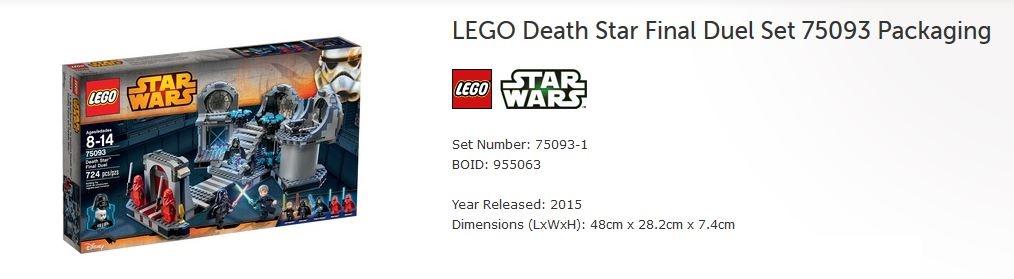 lego star wars death star final duel instructions