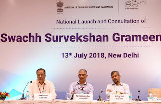 Government to gather data related to its Cleanliness Drive. Union Ministry of Drinking Water and Sanitation (MDWS) has launched Swachh Survekshan Grameen 2018 (SSG 2018) in New