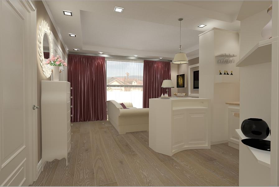 Design interior bucatarie stil clasic casa Bucuresti