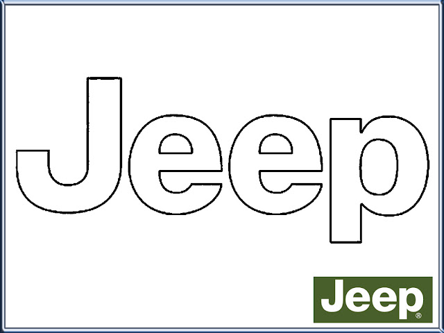 Jeep Logo Coloring Pages Printable