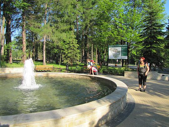 Rabka-Zdrój. Fontanna w Parku Zdrojowym przy ul. Orkana.