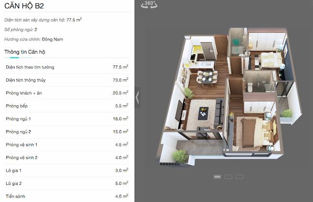 Thiết kế chi tiết căn hộ B2 chung cư The Legend
