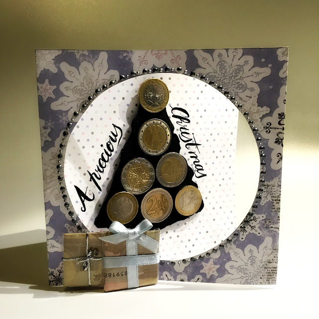 Perfect Gift Card By Ombretta Fusco Usigng BB Winter Wishes Collection, Magnetic Paste and Mgnetic Paint