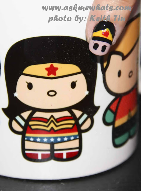 a photo of DC Superheroes Nail Art Tutorial Wonder Woman
