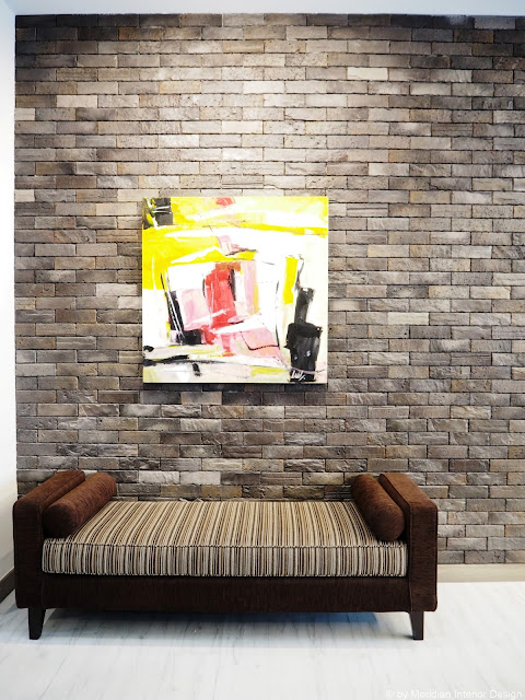 Brick wall by Meridian Interior Design