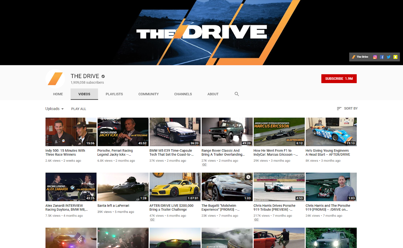 The Drive YouTube thedrive .com