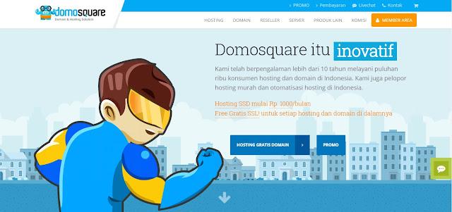Hosting Murah Gratis SSL Hanya di Domosquare