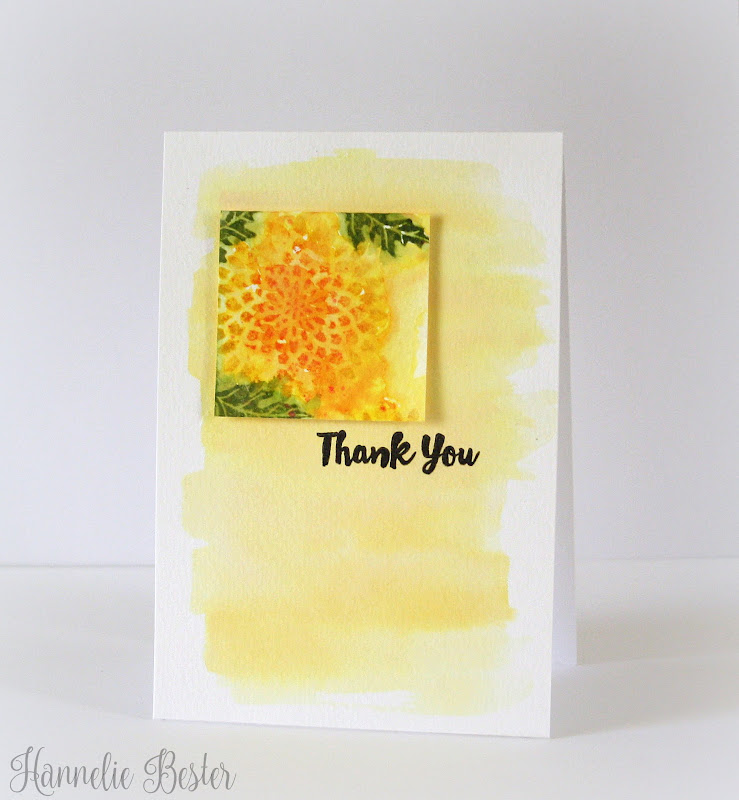 watercolored floral card