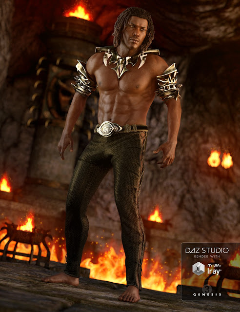 Daemon Outfit for Genesis 3 Male