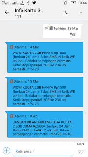 Cara Mendapatkan Promo Paket Tri 2.5 GB harga 2000