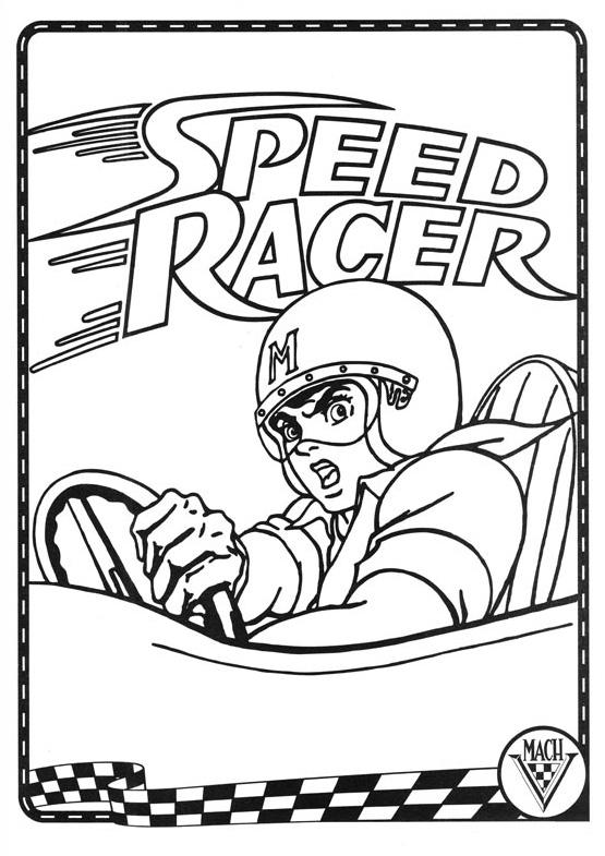 Laminas para colorear coloring pages meteoro speedracer for Speed racer coloring pages