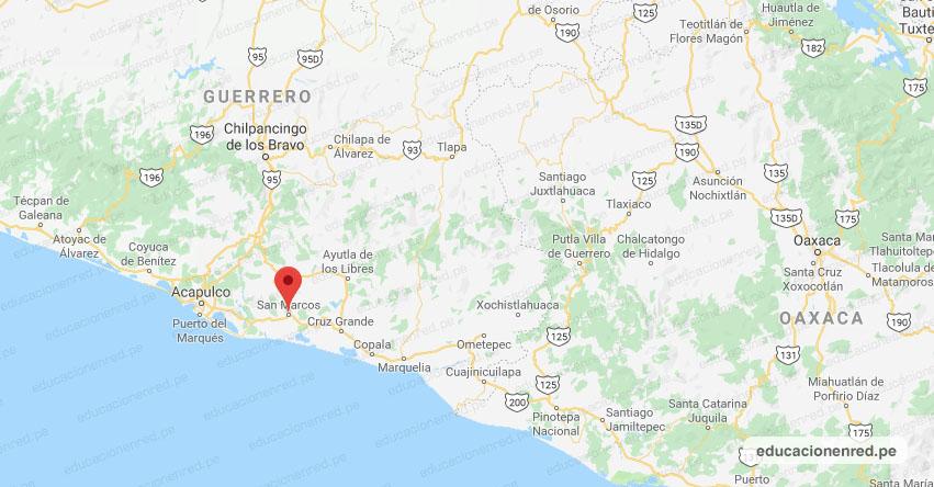 Temblor en México de Magnitud 4.2 (Hoy Sábado 18 Abril 2020) Sismo - Epicentro - San Marcos - Guerrero - GRO. - SSN - www.ssn.unam.mx