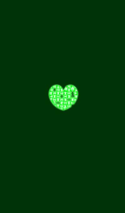 Green Jigsaw Heart 2