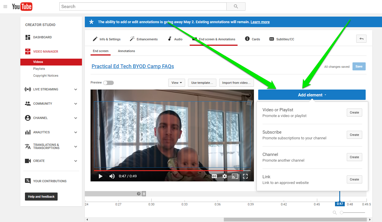 Earlier This Week Google Announced That The Option To Add Annotations To  Your Youtube Videos Will