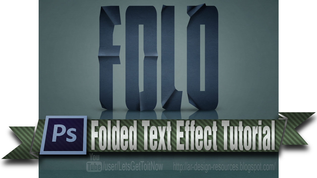 Folded Text Effect — Adobe Photoshop Tutorial
