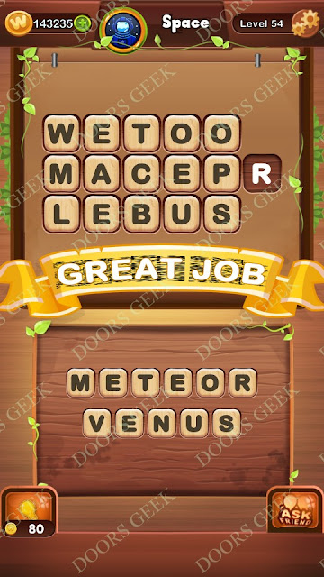 Word Bright Level 54 Answers, Cheats, Solutions, Walkthrough for android, iphone, ipad and ipod