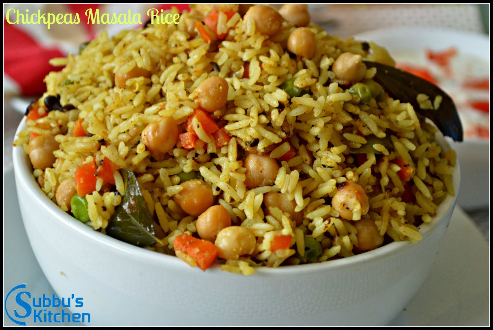 Chickpeas Masala Rice