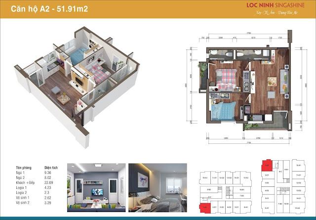 Một căn hộ tại chung cư Lộc Ninh.