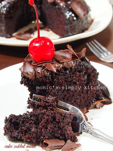 resep cake coklat kukus ganache